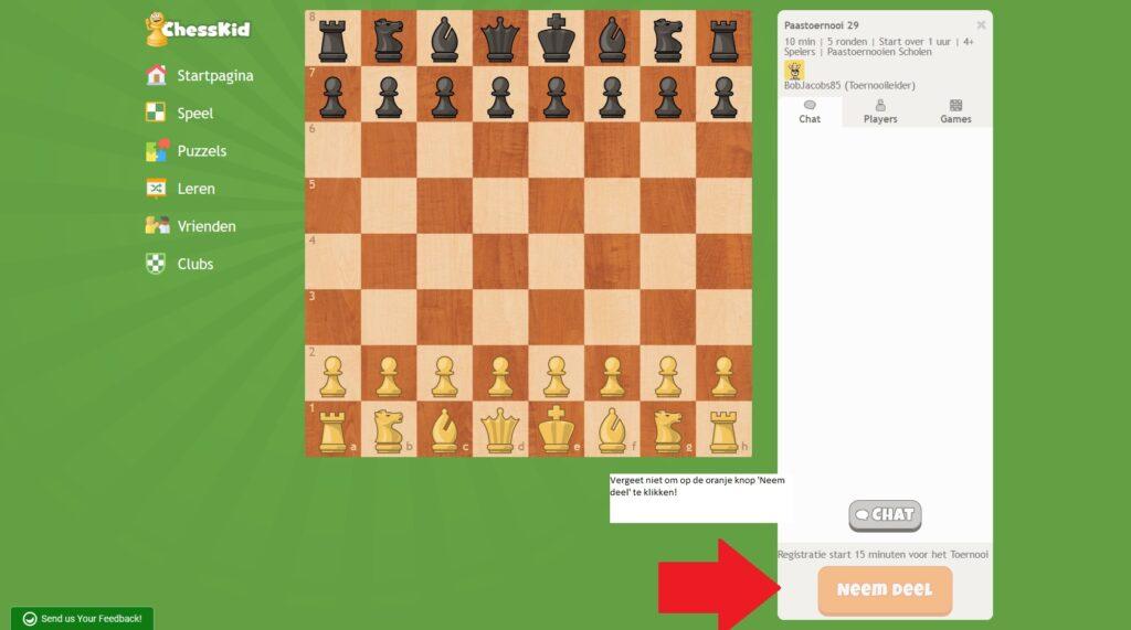 online schaaktoernooi kinderen